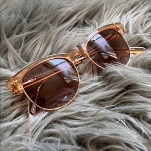 Rose gold Madewell sunglasses